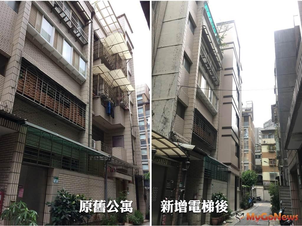 住戶團結達成共識 老公寓增設電梯成真!(圖:台北市政府)