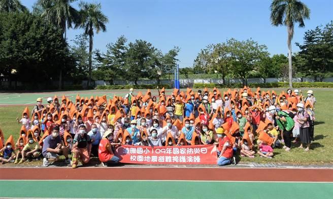王惠美說,防災觀念必須向下扎根,從校園、到社區、一直到家裡,一旦發生災害就能確實減災。(吳建輝攝)
