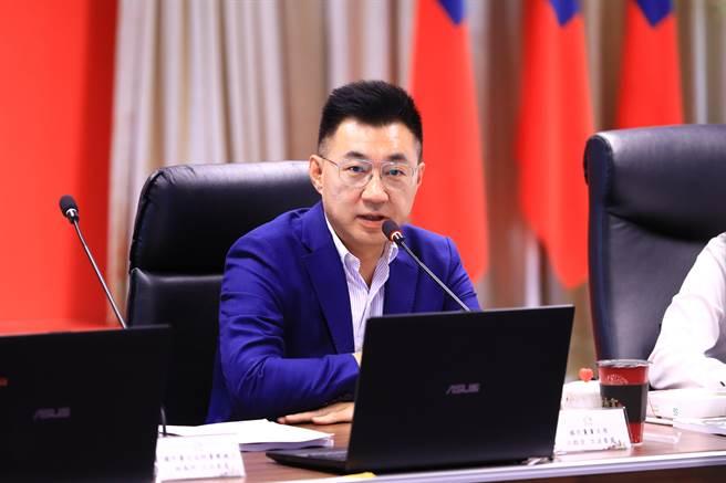國民黨主席江啟臣表示,立院國民黨團到藍營各縣市政府,在審查前瞻計畫之前,先來了解台中市的需求。(盧金足攝)