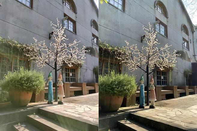 OPPO Reno4 Pro(左)與iPhone 11 Pro Max日間實拍對比(2)。(黃慧雯攝)