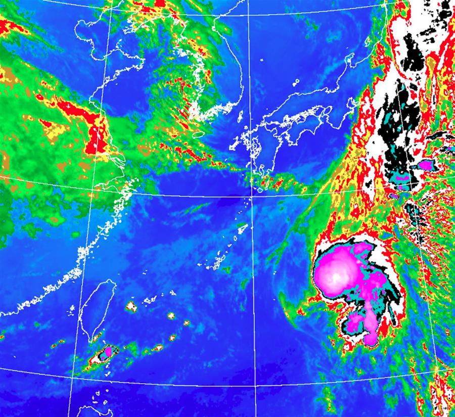 颱風「白海豚」突生成 氣象局揭關鍵 下波更強冷空氣這天報到。(氣象局 衛星雲圖)
