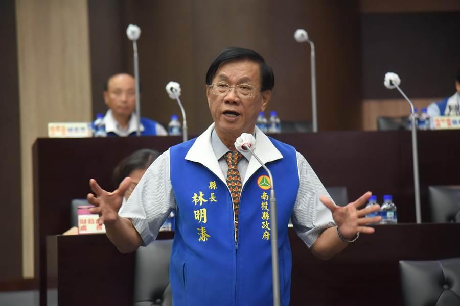 南投县长林明溱。(资料照,廖志晃摄)