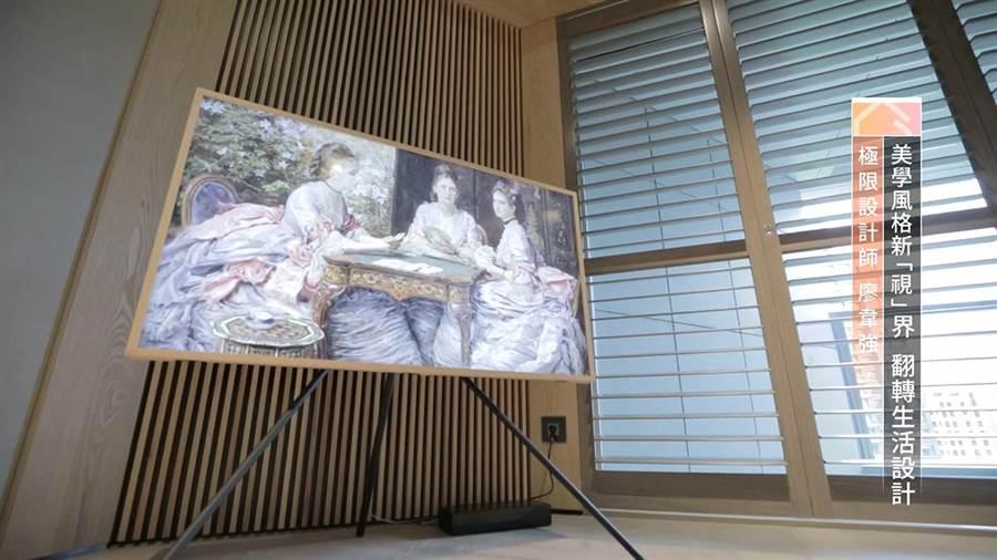 ▲透過藝術模式功能,開機是電視,切換模式就成為一幅藝術畫作。