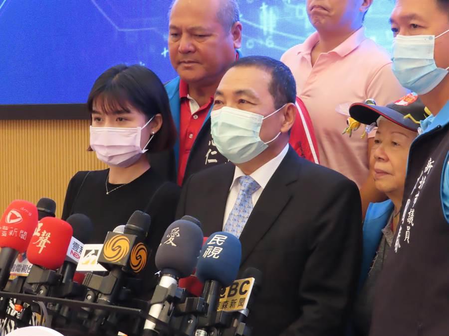 新北市長侯友宜表示,不鼓勵更希望大家不要吃美豬。(葉德正攝)
