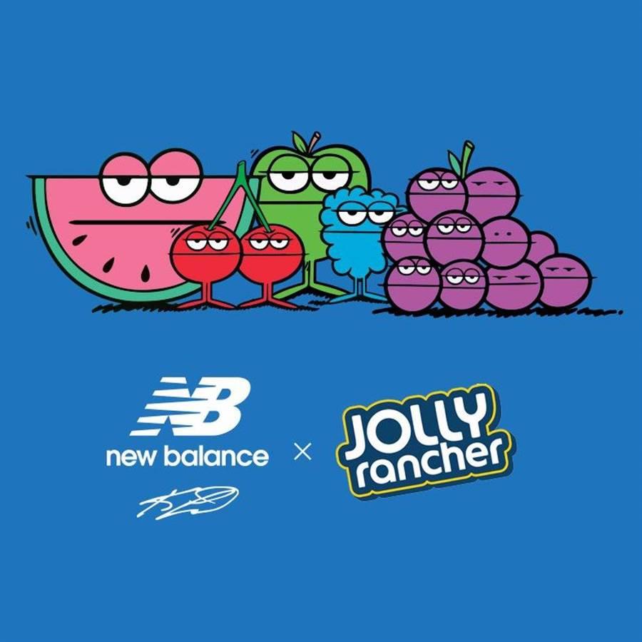 球鞋注入 Jolly Rancher 招牌的各式水果人物(圖 / Jolly Rancher 推特)