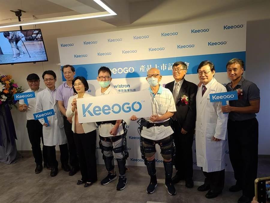 (緯創醫學外骨骼機器人Keeogo獲TFDA、FDA雙認證,與康科特合作搶進台灣復健照護市場。圖/翁毓嵐)