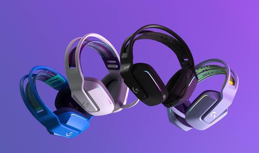 曾任Nike設計師操刀的G733無線RGB輕量化耳機麥克風。(羅技提供/黃慧雯台北傳真)
