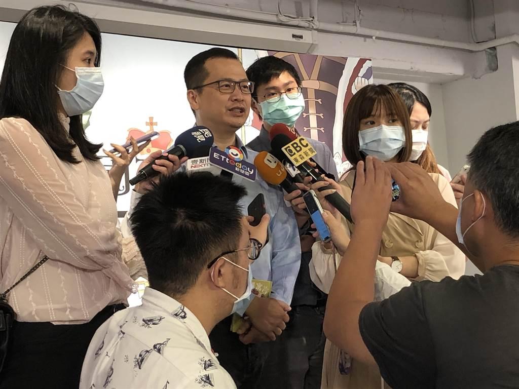 國民黨革實院長羅智強今天出席新書發表會。(趙婉淳攝)