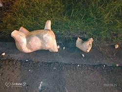 鹿草鄉石鹿雕像遭斷頭 公所痛心要求恢復原狀