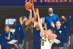 NBA》湖人進總決賽機率92% 金塊逆襲希望渺茫
