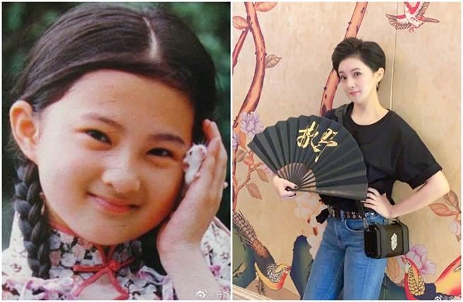 金銘8歲就以瓊瑤劇《婉君》飾演小婉君一炮而紅,而現年39歲的金銘雖淡出螢光幕,不過保養有術的她,依舊是美魔女一枚。(圖/取材自微博)
