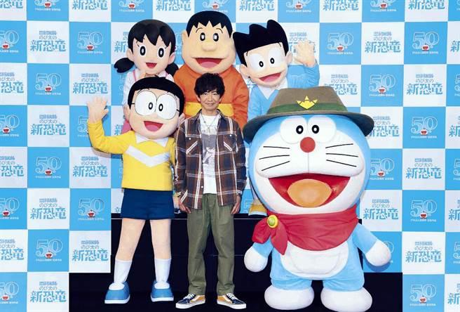 男神木村拓哉為《電影哆啦A夢:大雄的新恐龍》獻聲。(車庫娛樂提供)