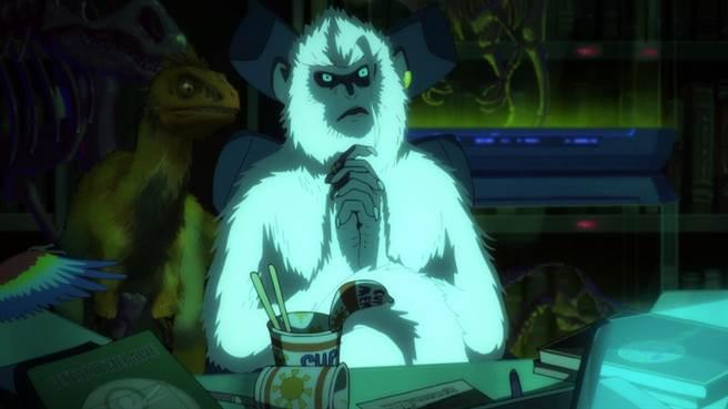 木村拓哉這回聲演的角色是掌握大雄命運的神祕猿人吉爾。(車庫娛樂提供)