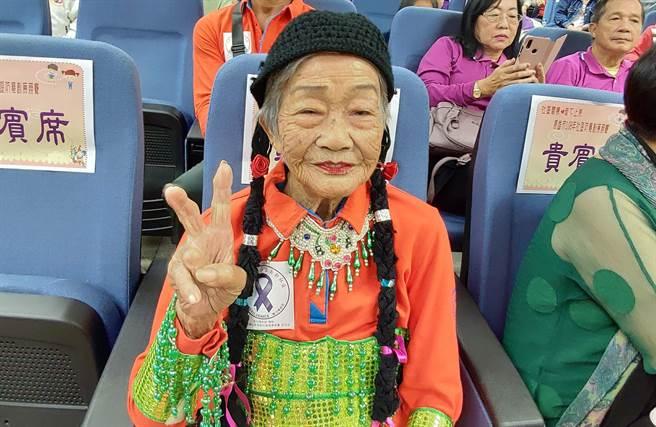 旗山區105歲的李柯梗是百歲人瑞中最特別的一位。(林雅惠攝)