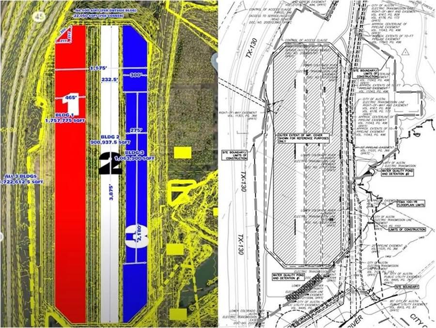 特斯拉德州超級工廠有「怪獸級」規模!鑽石型廠房設計,內有 Semi 卡車專屬通道