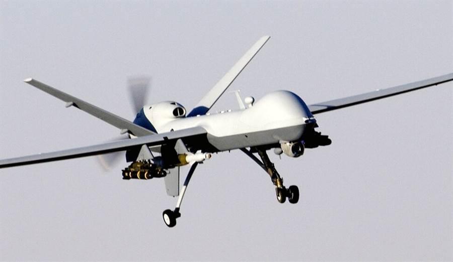 美國空軍MQ-9「死神」(Reaper)無人機的資料照。(美國空軍)