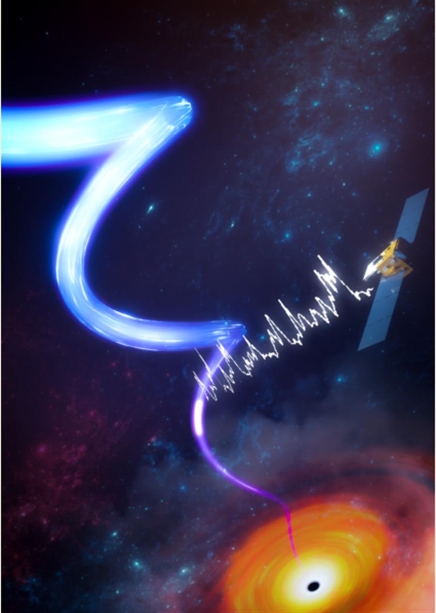 陸慧眼衛星 發現距離黑洞最近的高速噴流。(圖/取自中國科學院高能物理研究所官網)