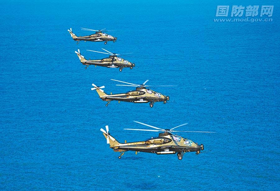 9月13日,解放軍東部戰區陸軍某陸航旅組織實戰化訓練。(取自中國軍網)