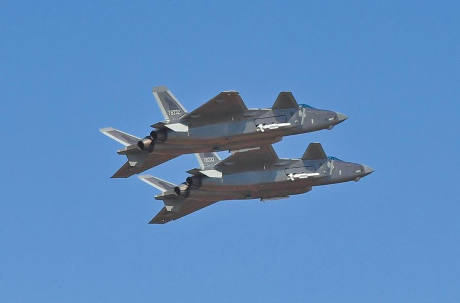 大陸五代機殲-20。(中新社資料照片)