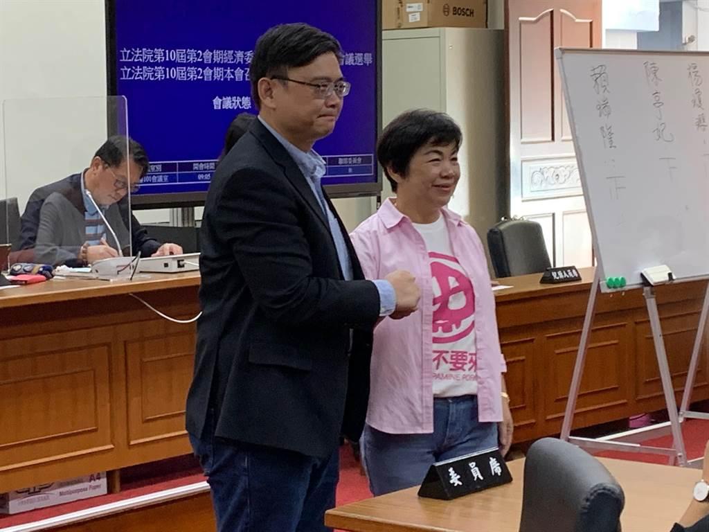 立法院經濟委員會今舉行召委選舉,投票結果出爐,民進黨賴瑞隆、國民黨楊瓊瓔擔任召委。