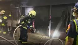 育達商職附近驚傳惡火 出動12輛水箱車急救援