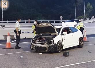 清晨開200多萬跑車送女友人 運將疑沒繫安全帶拋出車亡