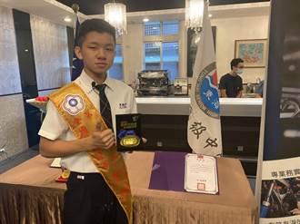 東海高中汽車科陳柏達 榮獲全國汽車板金組金牌