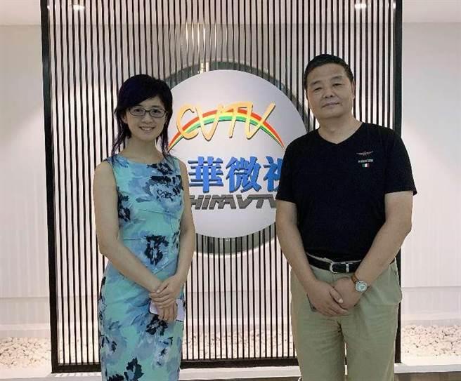 中華微視首席執行官宋體金(右)和董事許戈輝(左)。(中華微視提供)