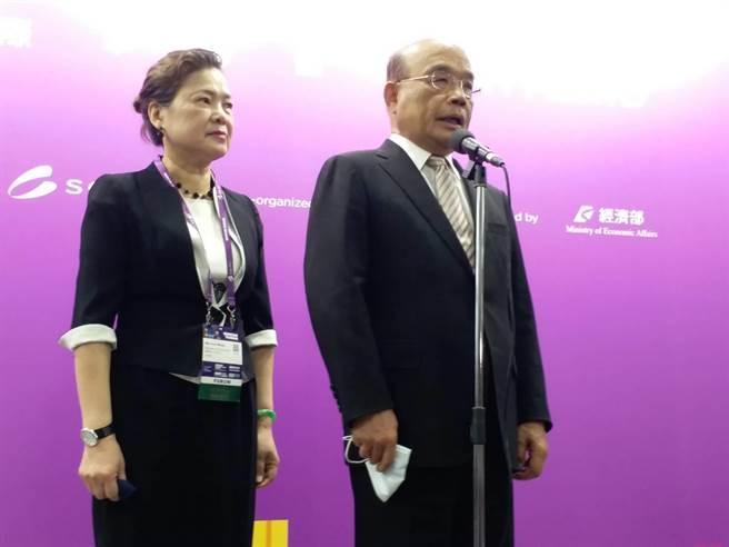 苏揆指蔡总统一定为台湾发声(张理国摄)