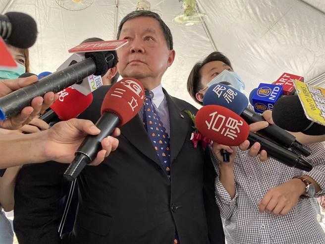 遠東集團董事長徐旭東針對近日立委收賄案也做出說明。。(馮惠宜攝)