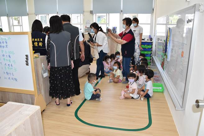 竹南竹興國小非營利幼兒園新教室。(謝明俊攝)