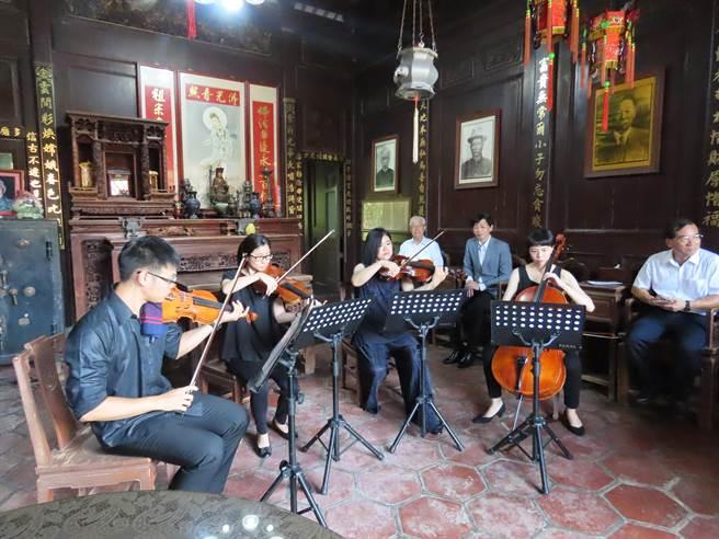 邁入第23年的台南後壁黃家古厝音樂會將於10月3日登場。(莊曜聰攝)
