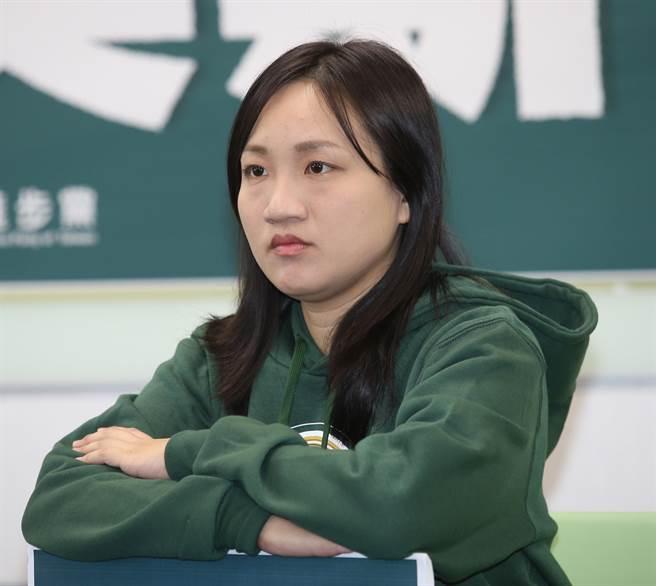 民進黨國際部副主任兼發言人謝佩芬。(資料照片,姚志平攝)