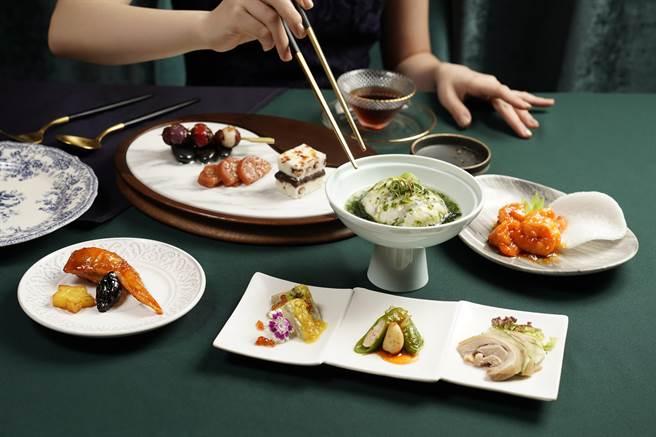 「金釵三拼」選用經典上海菜。(THE上海提供)