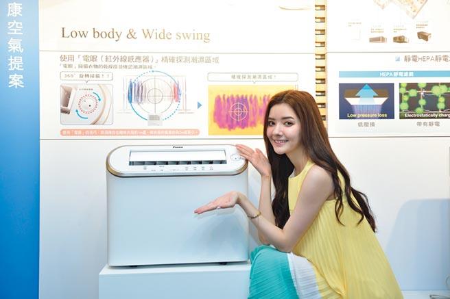 蘇小軒代言移動型除濕機,消費者有信心。圖/業者提供