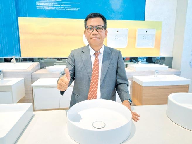凱撒衛浴董事長蕭俊祥。圖/曾麗芳