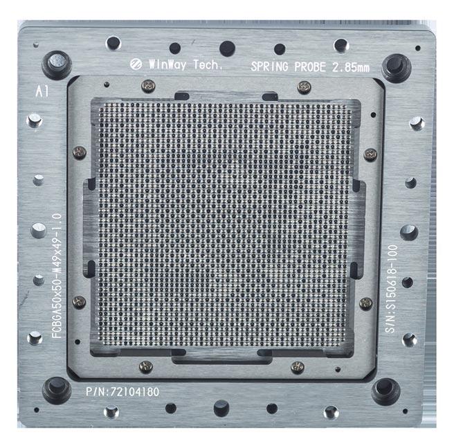 穎崴112Gpbs PAM4高速同軸Coaxial Socket量產測試方案。圖/穎崴科技提供