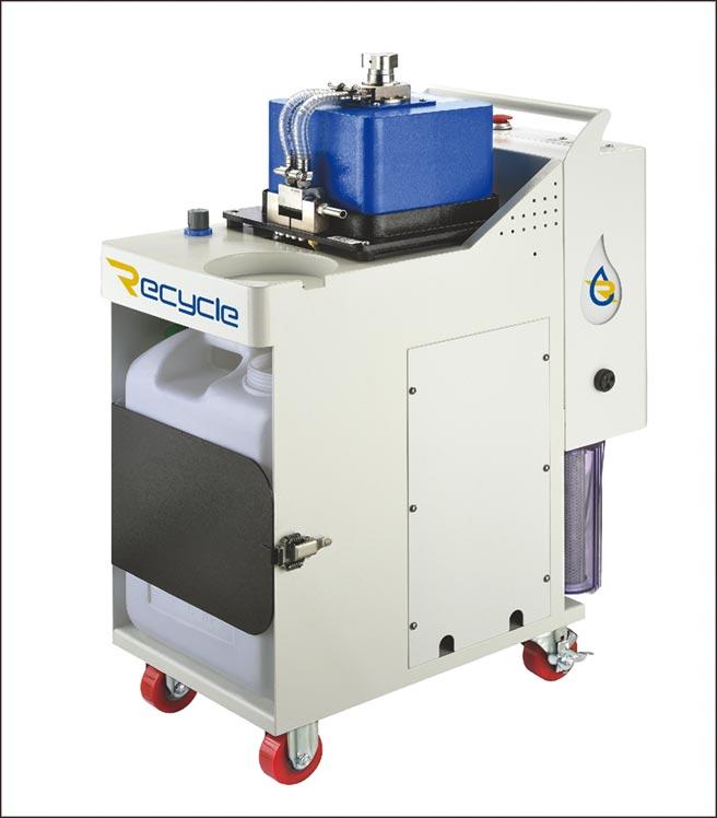 長泰精密「Recycle濾思可」CT-EX離心式油水分離機具有高速離心式旋轉、臭氧殺菌、大量排出廢油等眾多特點。圖/長泰精密提供
