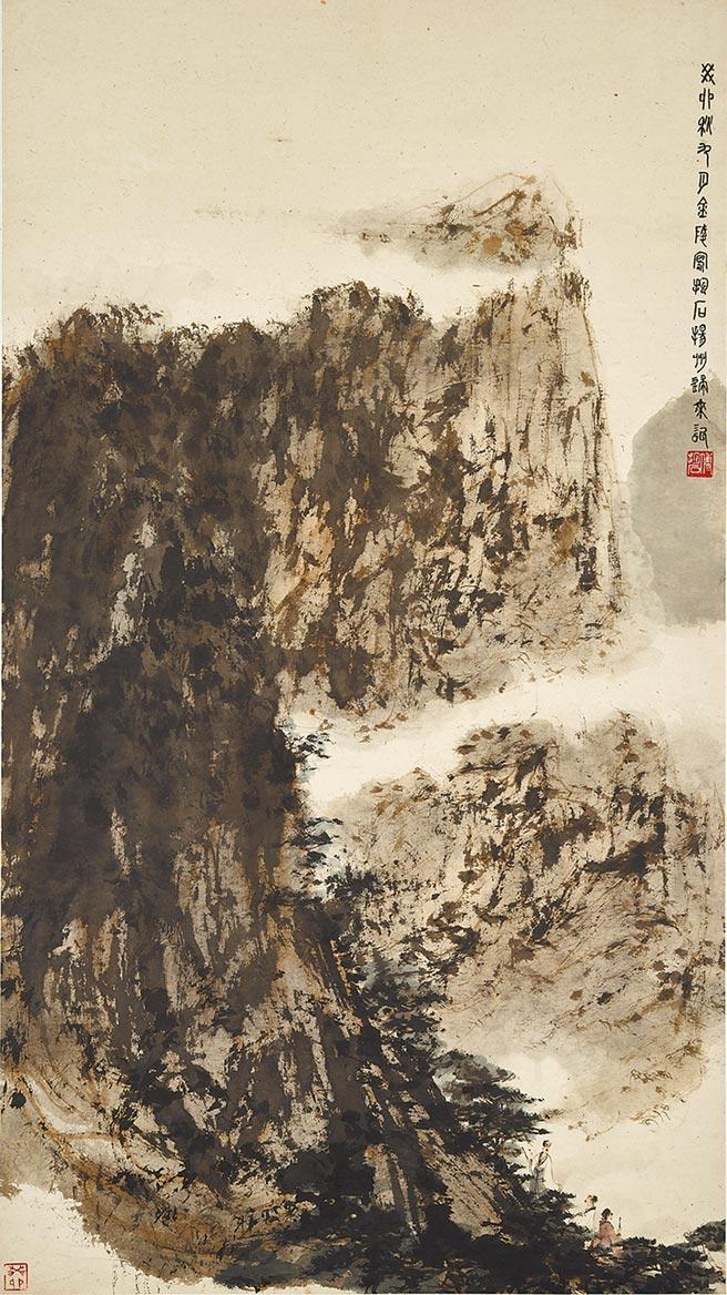 傅抱石《一生好入名山游》是其晚期可見心性之作。(中國嘉德提供)