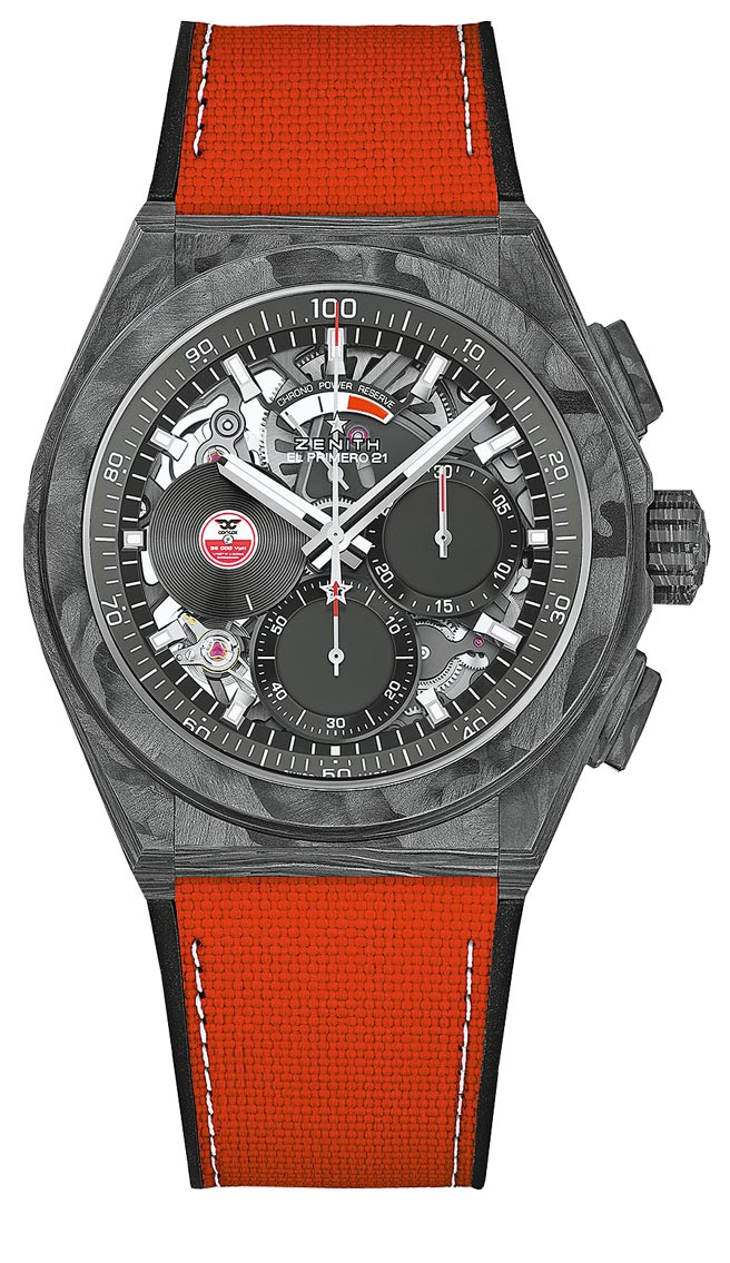 Zenith真力時DEFY EL PRIMERO 21 CARL COX特別版腕表,62萬6600元。(Zenith提供)