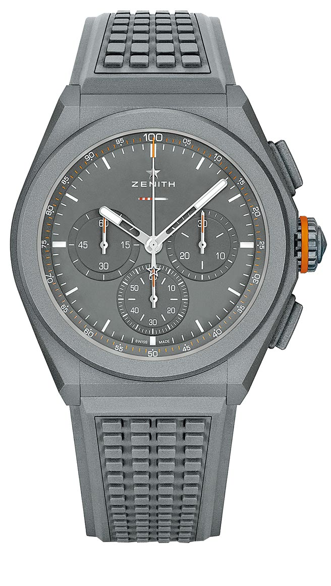 Zenith真力時DEFY EL PRIMERO 21 LAND ROVER特別版腕表,44萬6700元。(Zenith提供)
