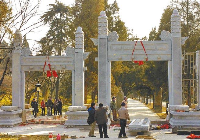 南京明孝陵欞星門。(新華社資料照片)