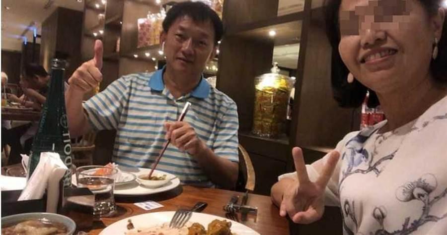敦化國小校長柯文賢的元配雖痛心丈夫外遇,但在臉書上仍大量PO出家族聚餐、出遊的照片,維持表面上的正常生活。(圖/翻攝畫面)