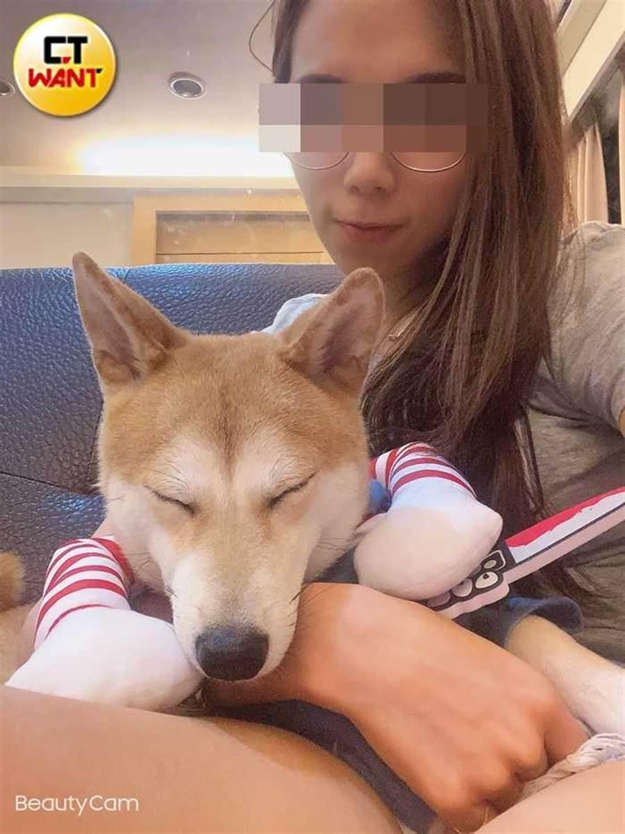 琳琳生活簡樸,工作之外大部分時間都在陪伴「狗女兒」。(圖/琳琳提供)
