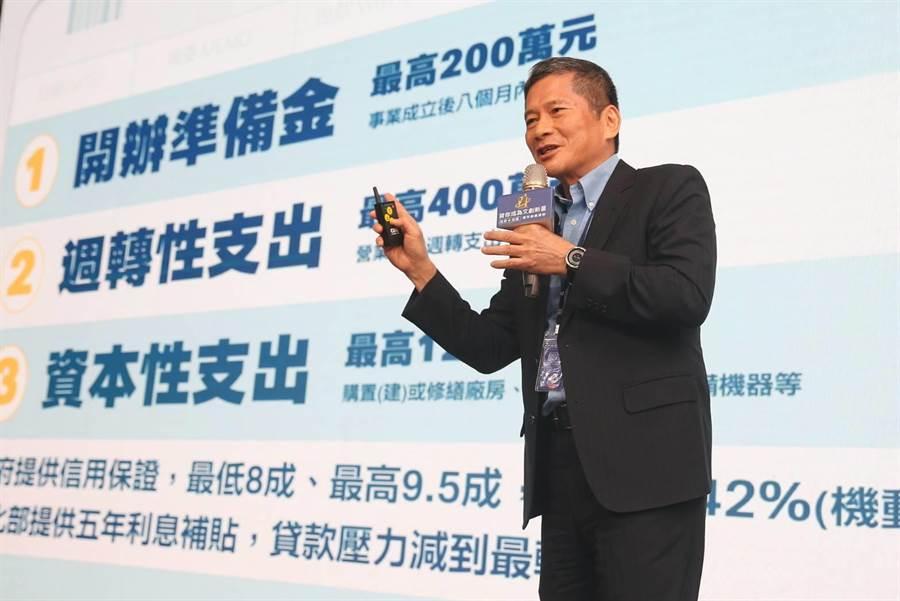 文化部長李永得今(23)日宣布,將與文策院及10家銀行共同合作,推出文創產業青年貸款,打造有利青年創業環境。(杜宜諳攝)
