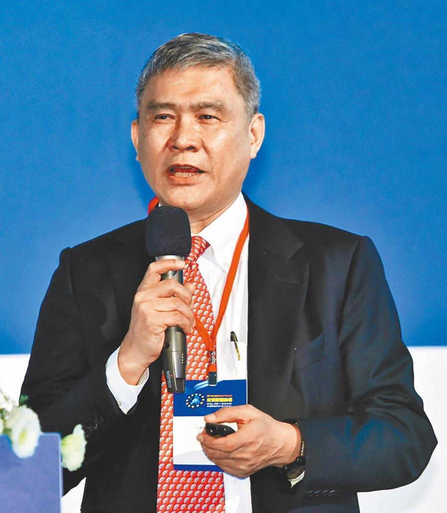 台達電子董事長海英俊受邀於投資歐盟論壇進行專題演講。圖/顏謙隆