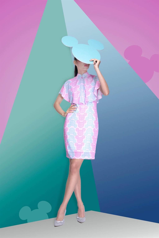 迪士尼米奇限量旗袍來台展售。(圖/台北旗袍同好會提供)