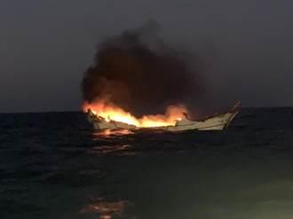 彰化外海驚傳火燒船!上萬公升柴油燒船14小時釀1死
