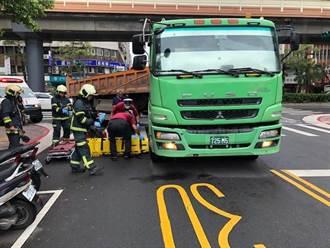 北市砂石車撞倒7旬婦 拖行數公尺右腳骨折嚴重變形