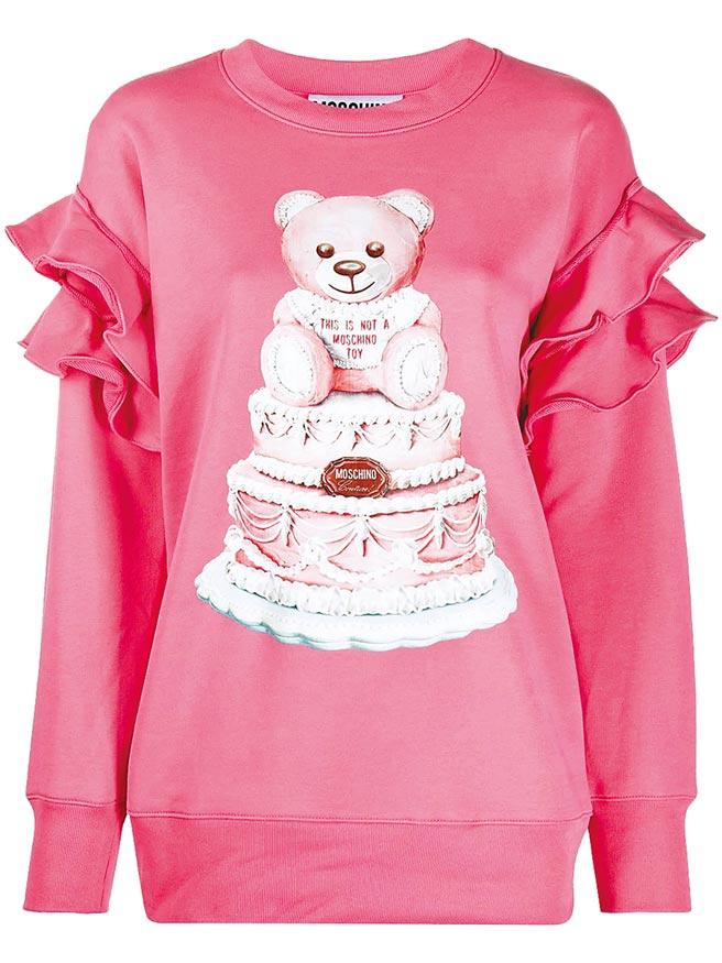 Moschino螢光粉蛋糕熊上衣,2萬7800元。(Bluebell提供)